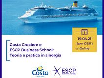 Costa Crociere ed ESCP Business School: pratica e teoria in sinergia