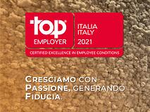 Siamo certificati Top Employers Italia 2021!